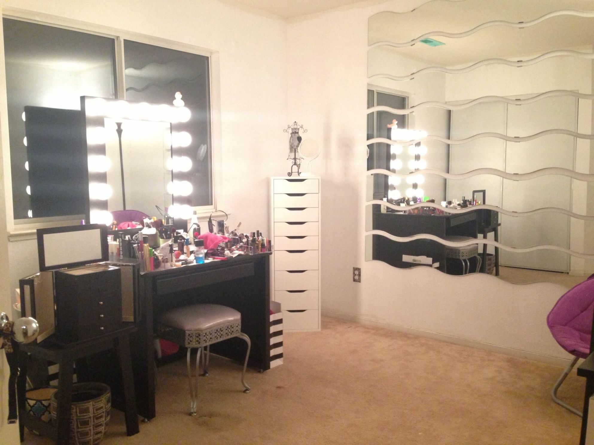 My makeup room alex11 drawers, vanity girl Hollywood and ikea ..