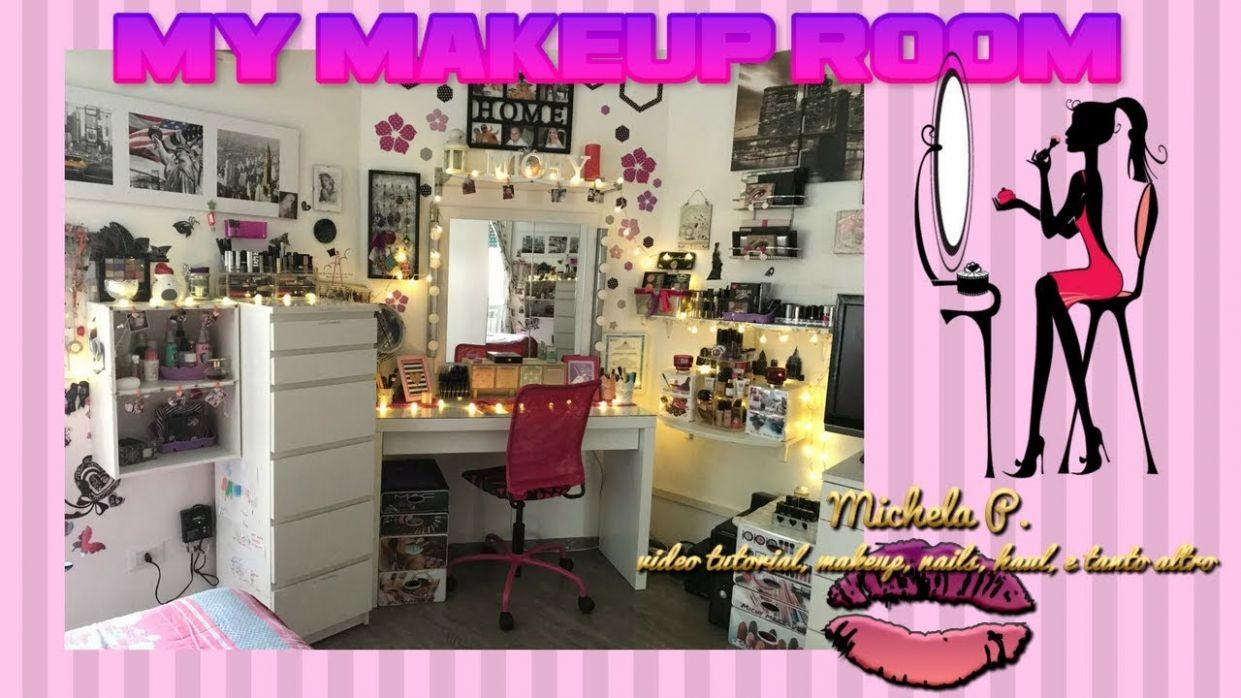 MY MAKEUP ROOM TOUR 11 MAKEUP COLLECTION 💋 ❀ - makeup room tour 2018