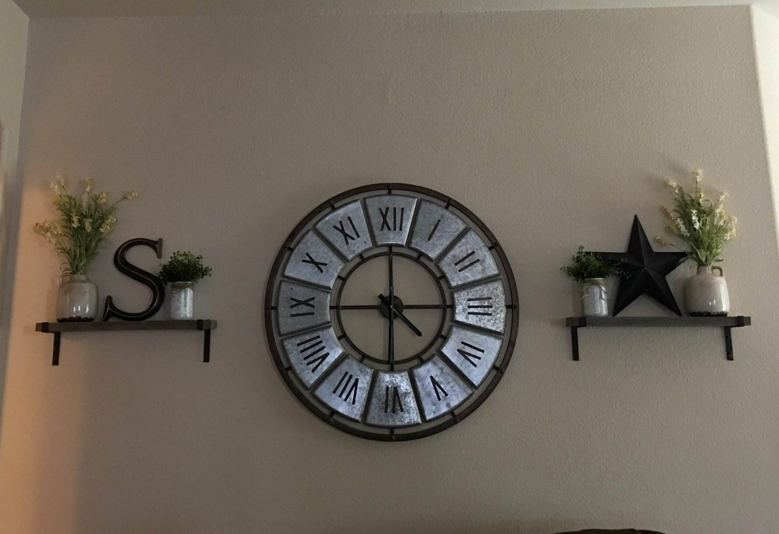 My new wall decorations! Decorating around a large clock | Large ..