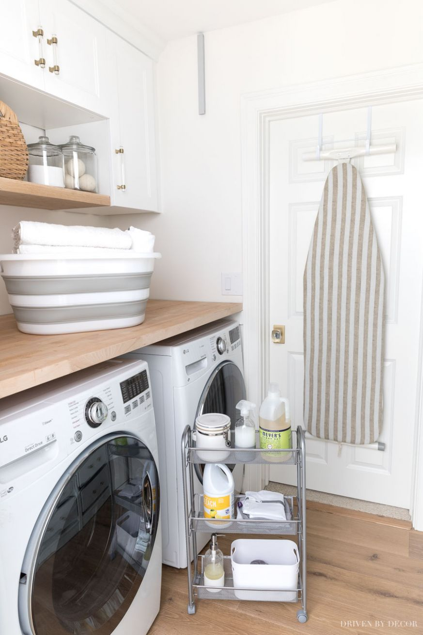 My Six Best Laundry Room Storage Ideas | Driven by Decor