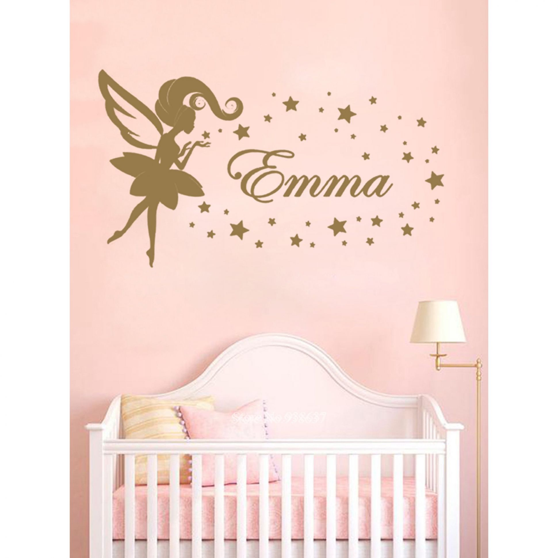 New beauty decoration personality girl baby room decal house decoration  custom name wall sticker wall sticker - baby room decals