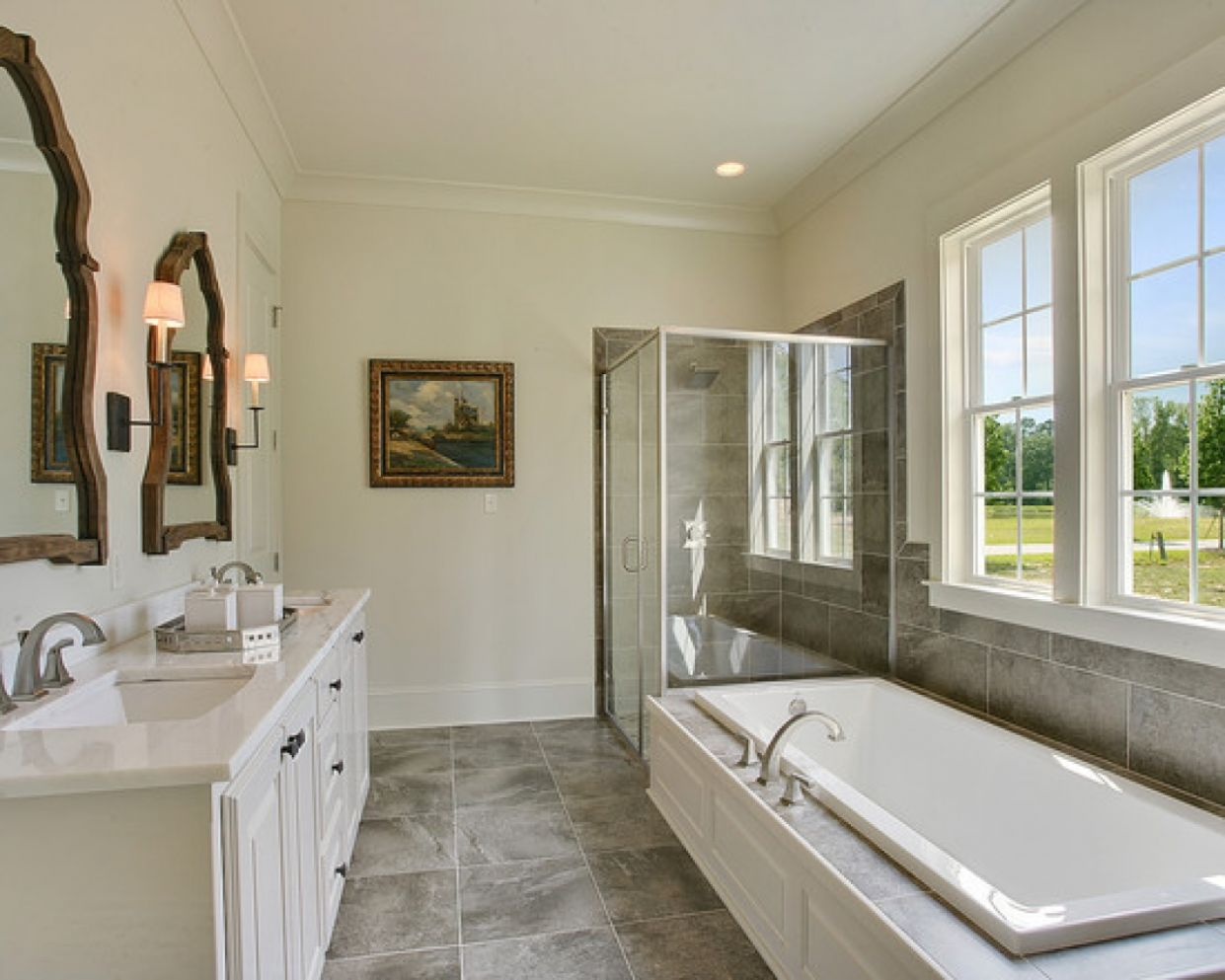 New Home Bathroom Ideas Video And Photos Landscaping Ranch ...