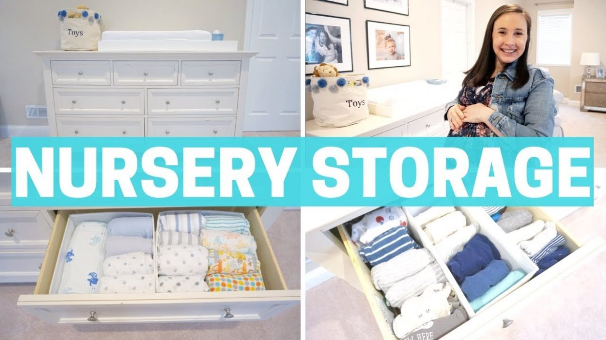 NEWBORN BABY STORAGE - ORGANIZATION & NURSERY MUST-HAVES!!! - baby room organization