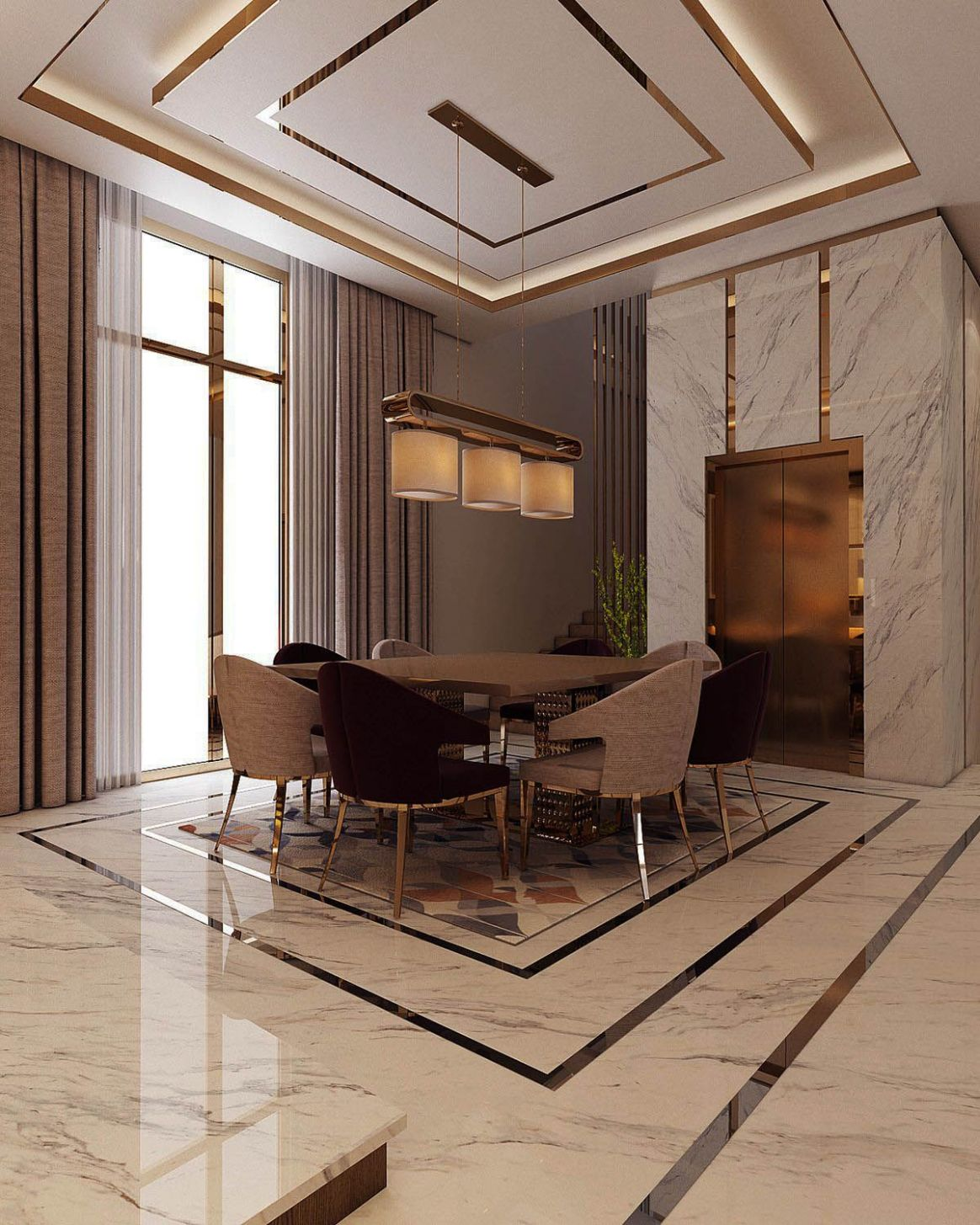 Nice modern dining rooms houzz made easy | Luxury homes interior ..