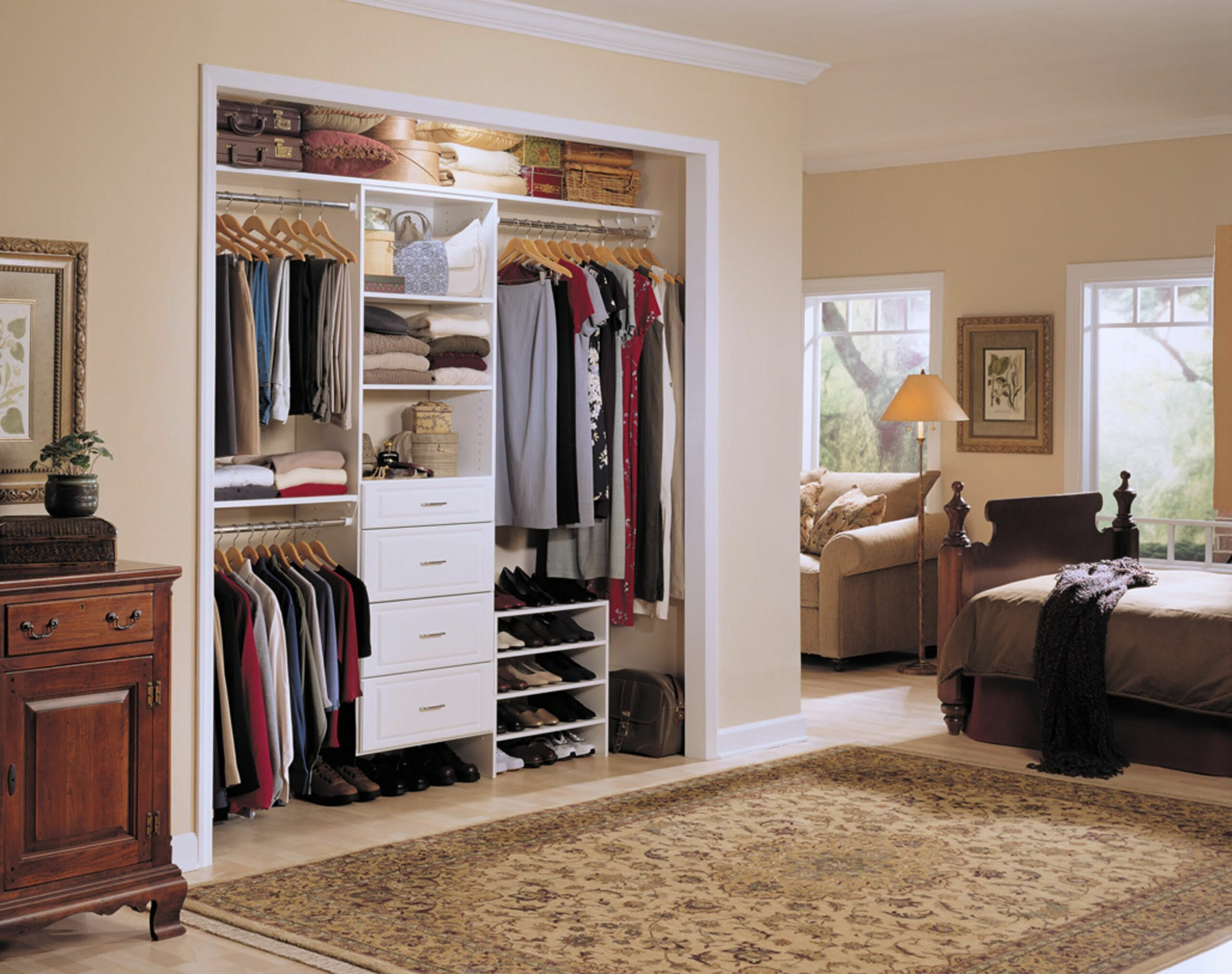 No Closet Solutions Bedroom Inspired Organize Without Dresser ...