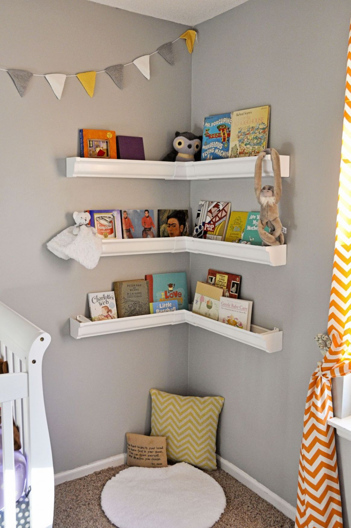 Nursery Bookshelf Ideas With Cute And Playful Designs - baby room bookcase