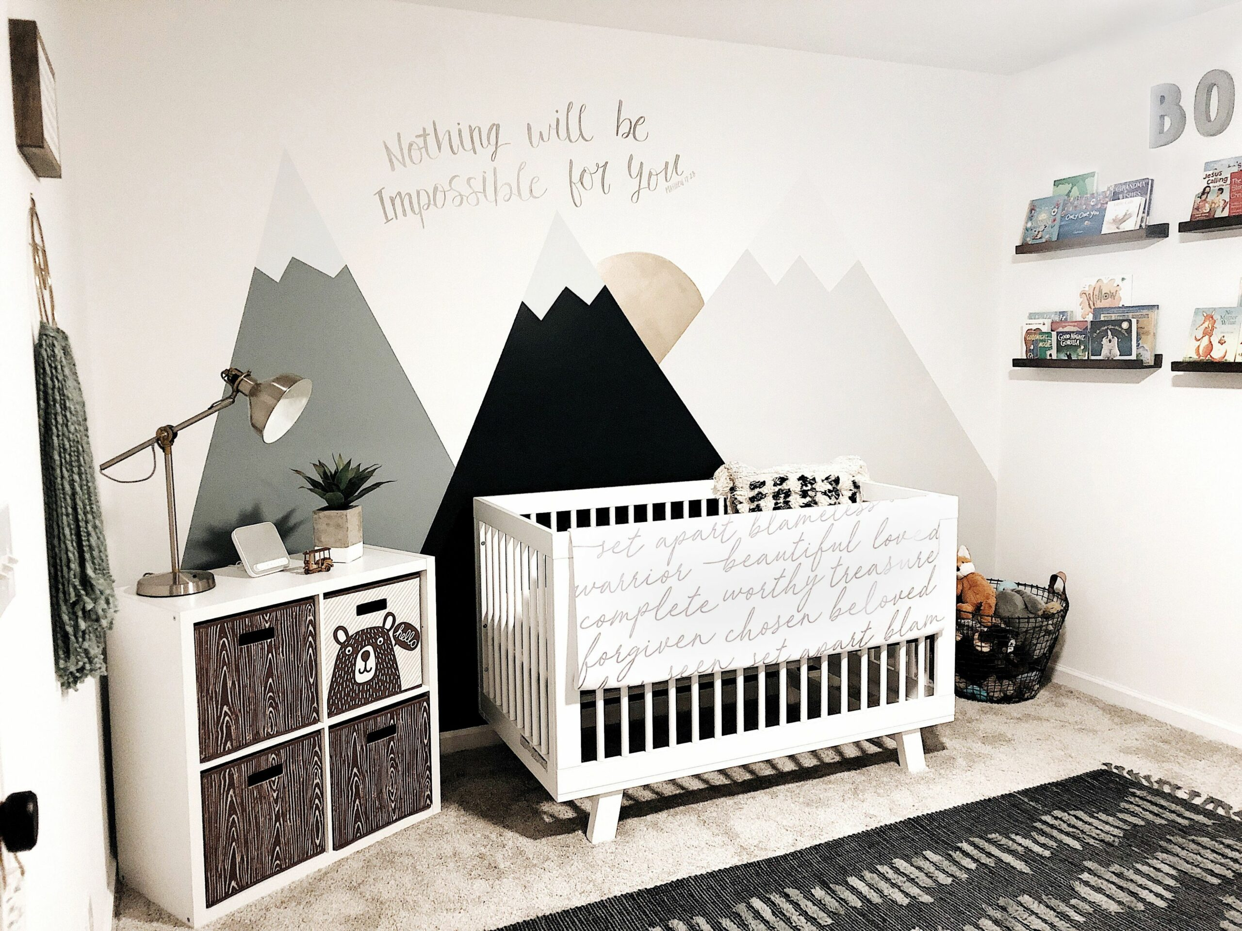 Nursery Inspiration Nursery Wall Mural Mountain Nursery Inspo ..
