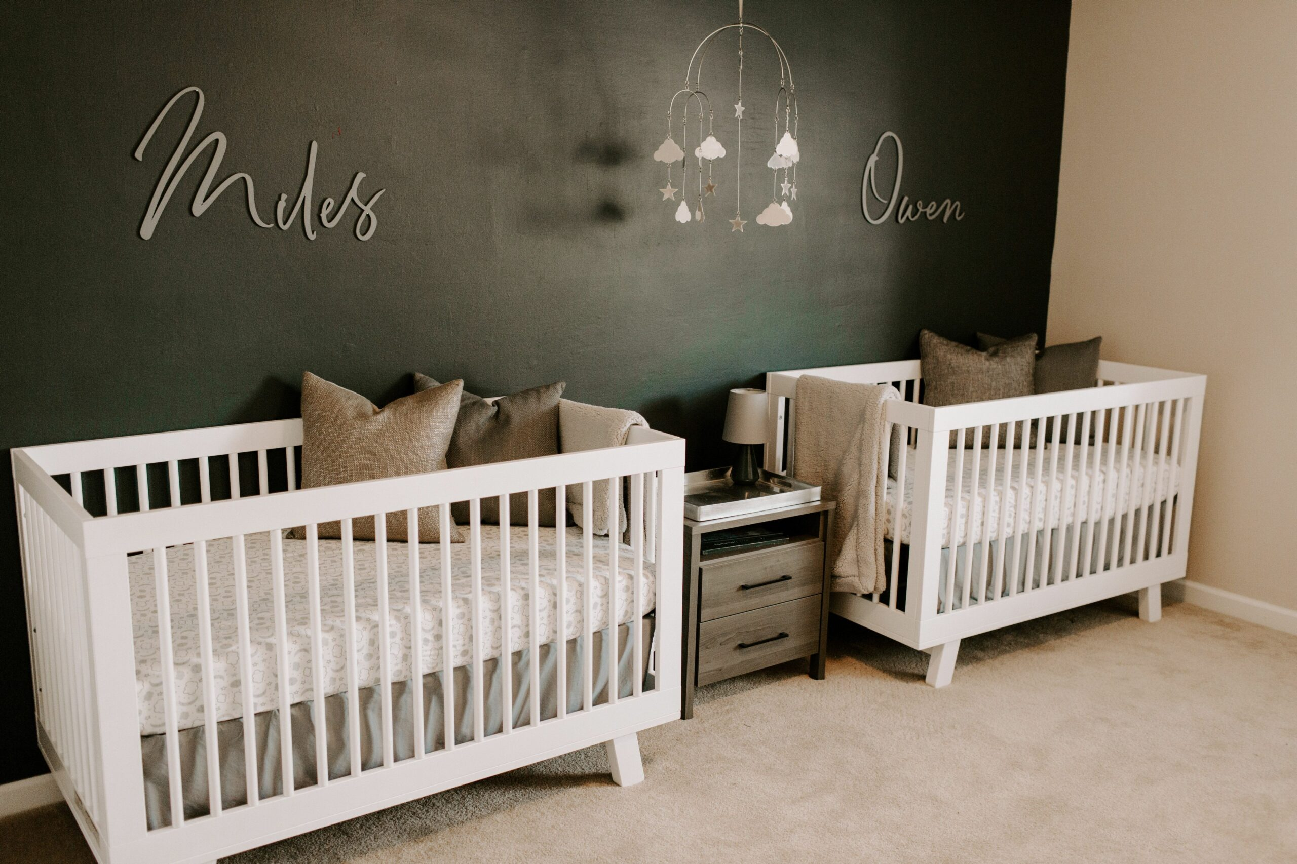 Nursery Name Sign for Baby Bedroom Wall Decor Wooden Letters Kids ..