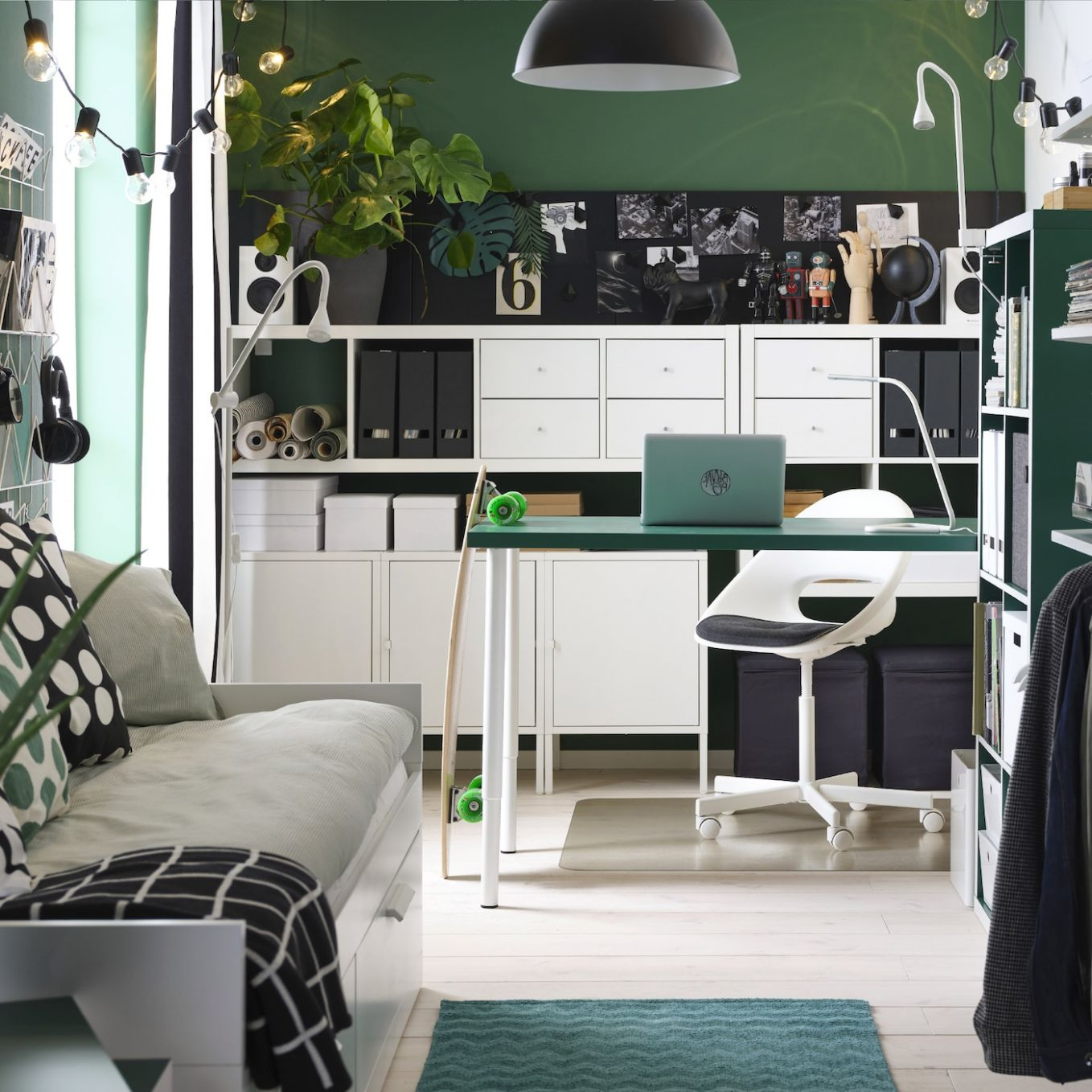 Office Ideas - Office Inspiration - Home Office Ideas - IKEA - kallax home office ideas