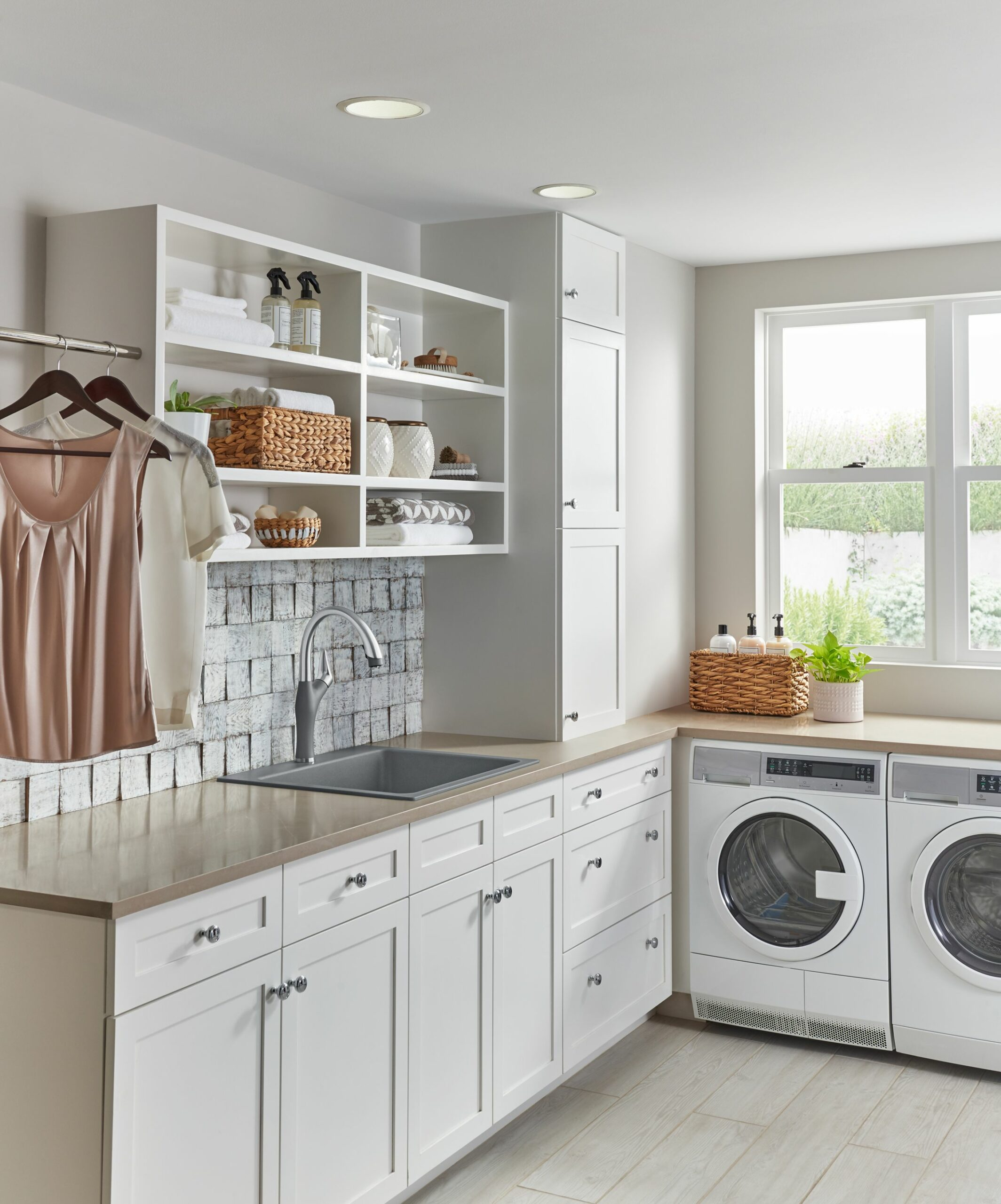 On the surface: fabricating for the laundry room - Blanco by Design - laundry room countertop ideas
