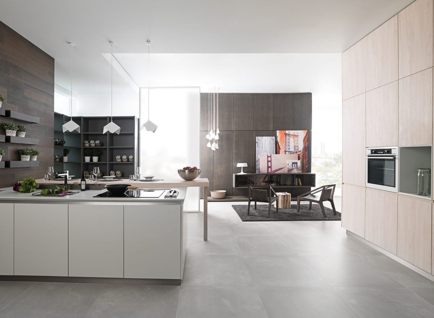 Open plan kitchen ideas for making the most of the space available ...
