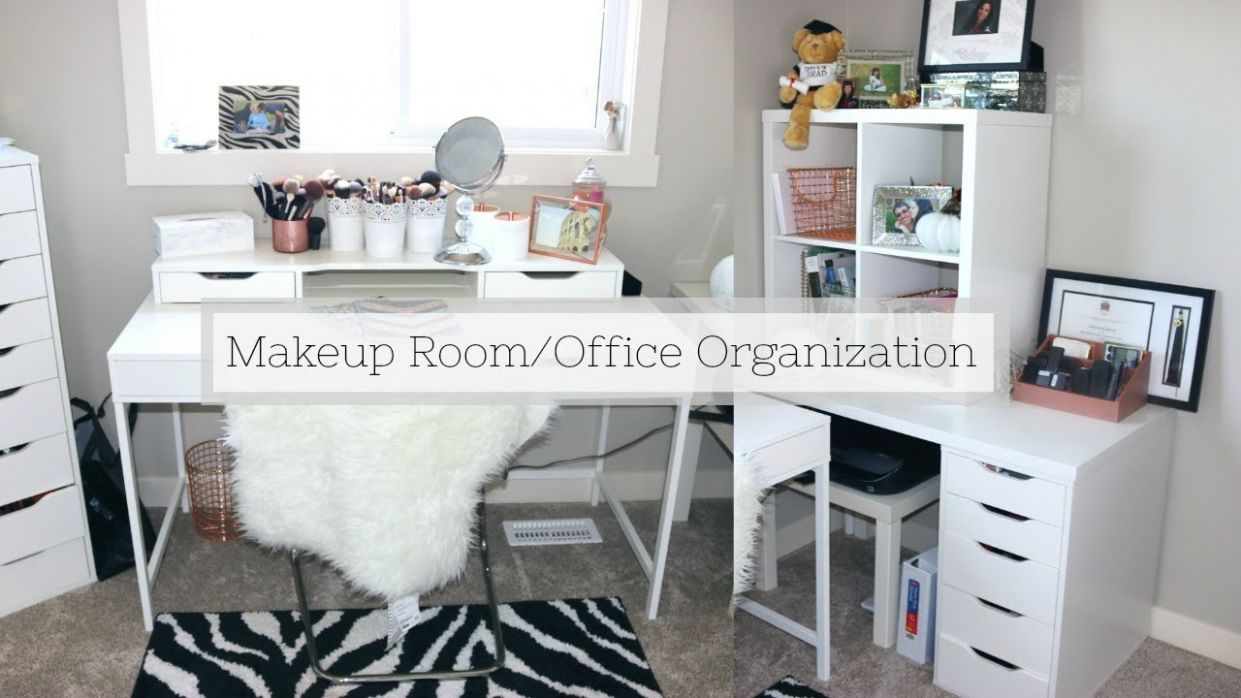 ORGANIZING MY BEAUTY ROOM/OFFICE | Sheena Kozak