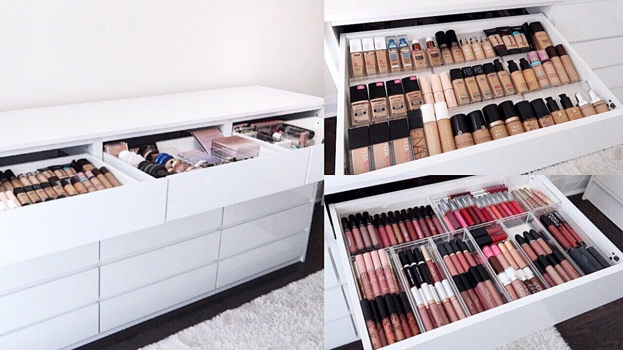 ORGANIZING MY ENTIRE MAKEUP COLLECTION