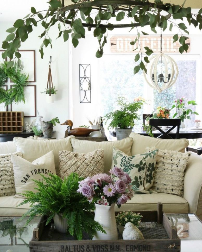 Our 12 Best Spring Decor Ideas Home Tour | The Design Twins - living room ideas vignettes