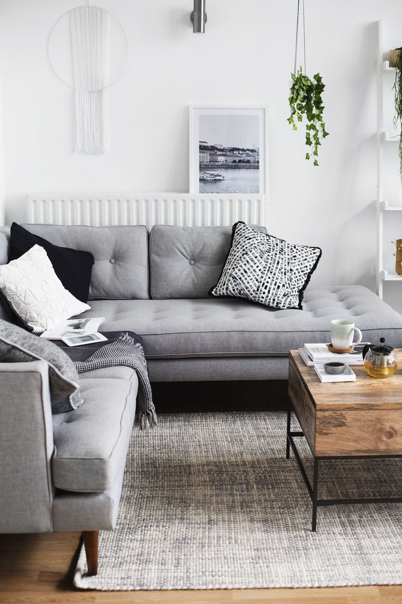 Our Living Room Tour (With images) | Couches living room, Living ...