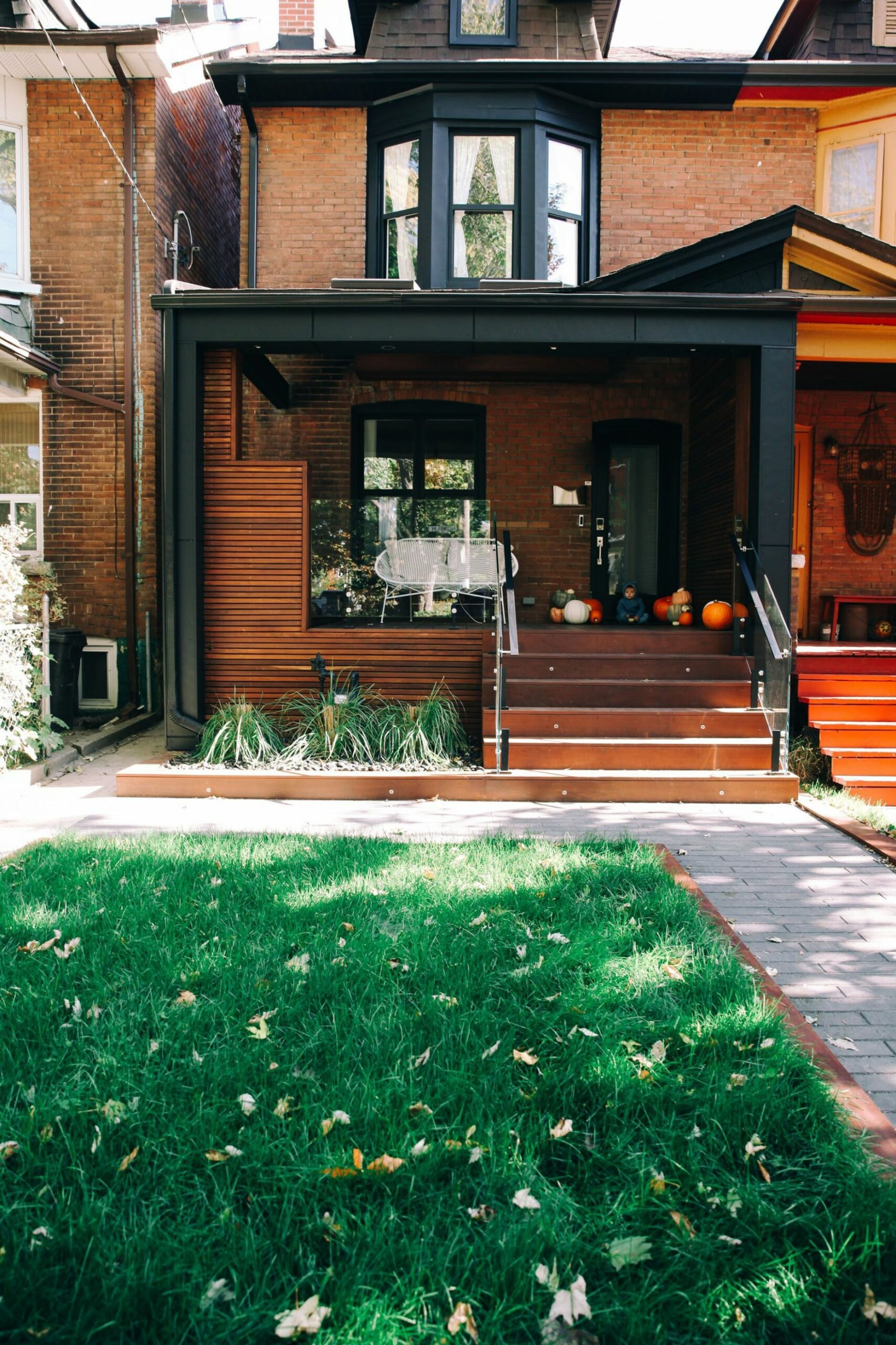 Our Modern Toronto Porch Reveal! (With images) | Brick exterior ...