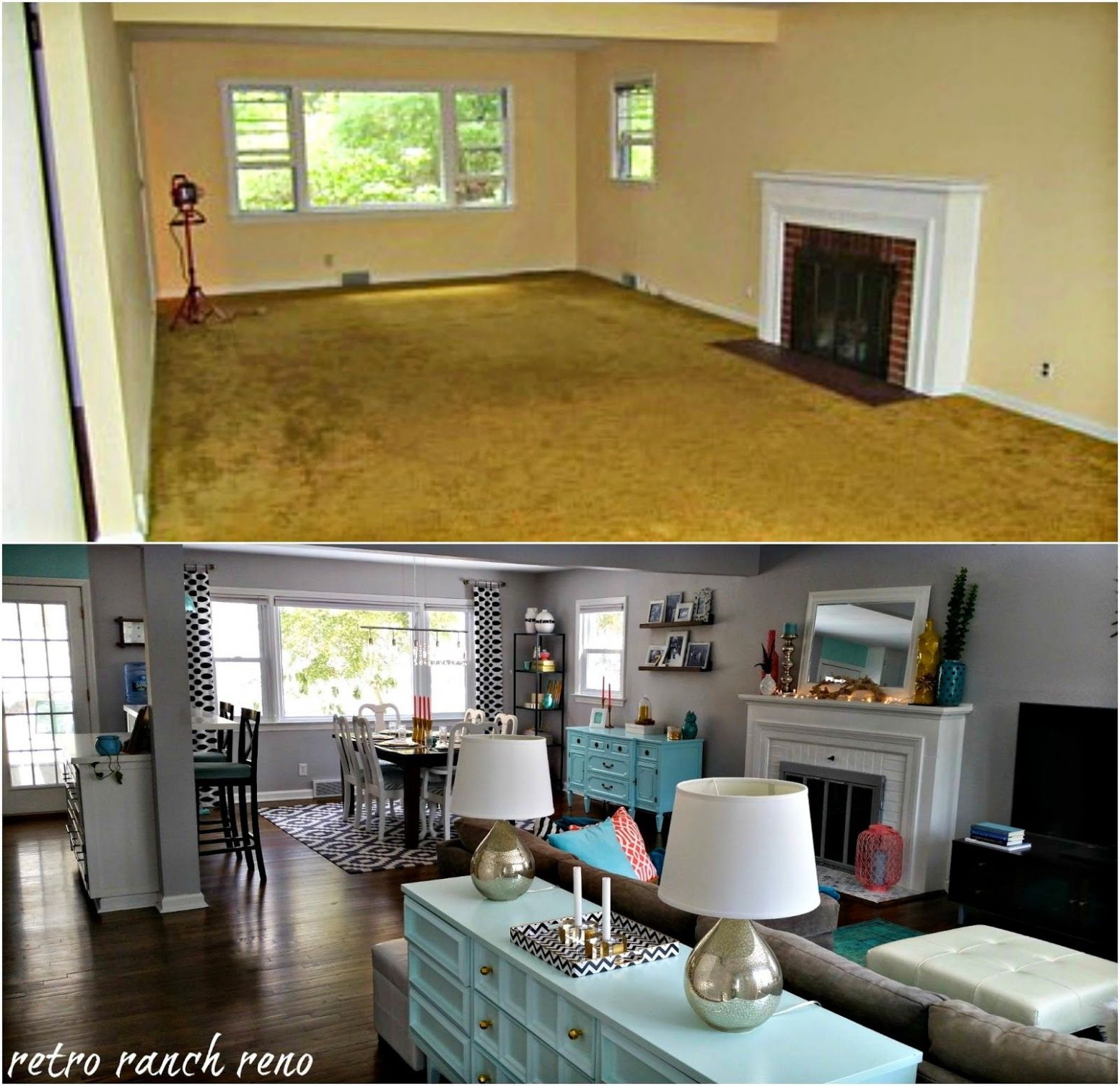 Our Rancher: Before & After - The Living Room. (With images ..