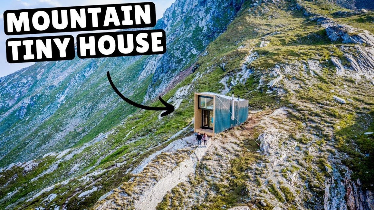 Our TINY HOME IN THE SWISS ALPS (full tour) - tiny house zürich