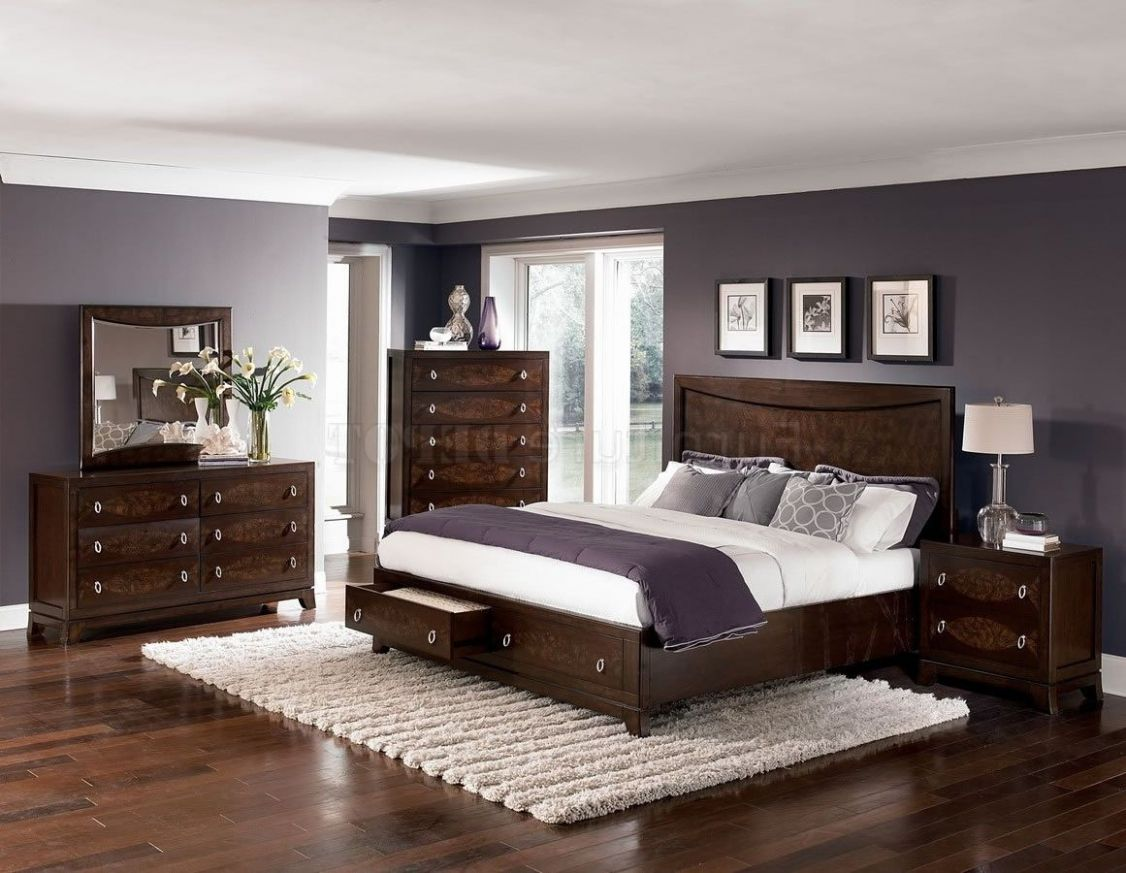paint colours for bedrooms dark wood furniture - Google Search ..