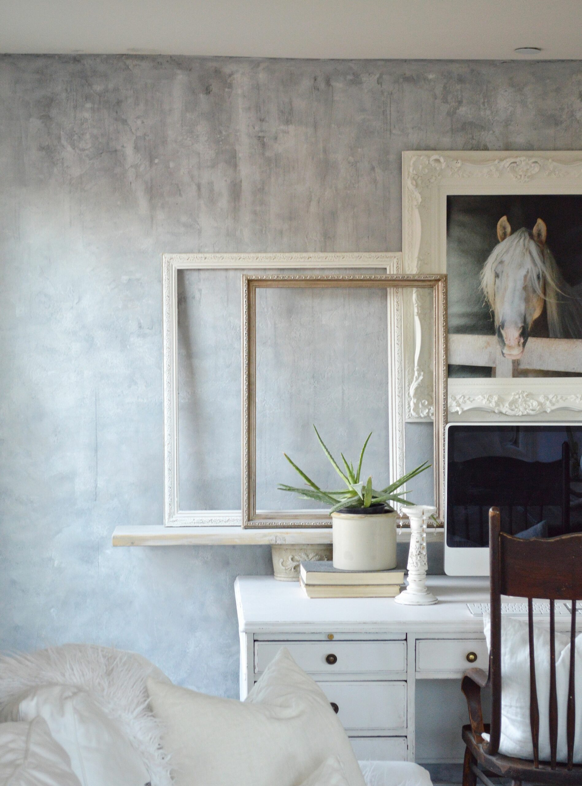 Painting A Wall To Look Like Concrete - diy home decor how to paint a faux concrete wall finish