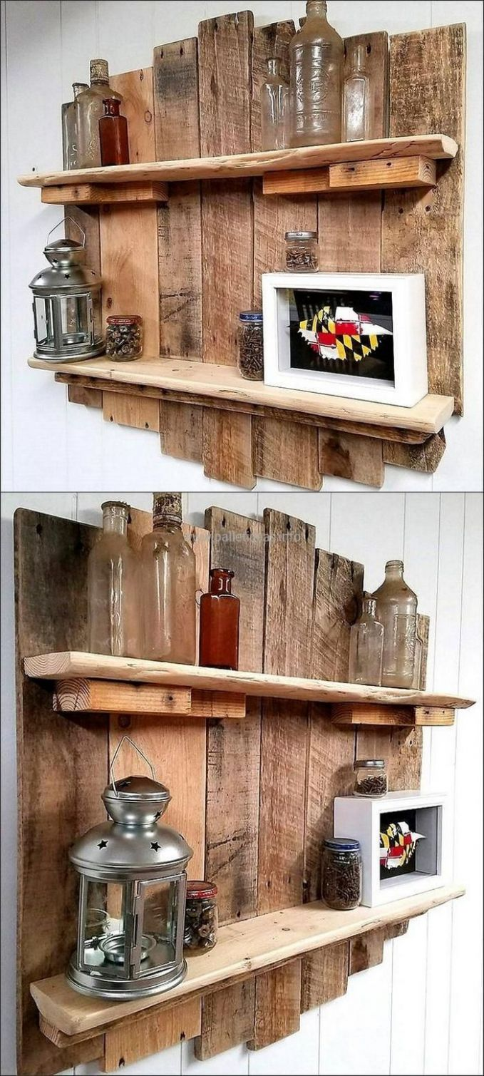 Pallets Shelves | Home Improve Your Decor | Wood pallet furniture ...