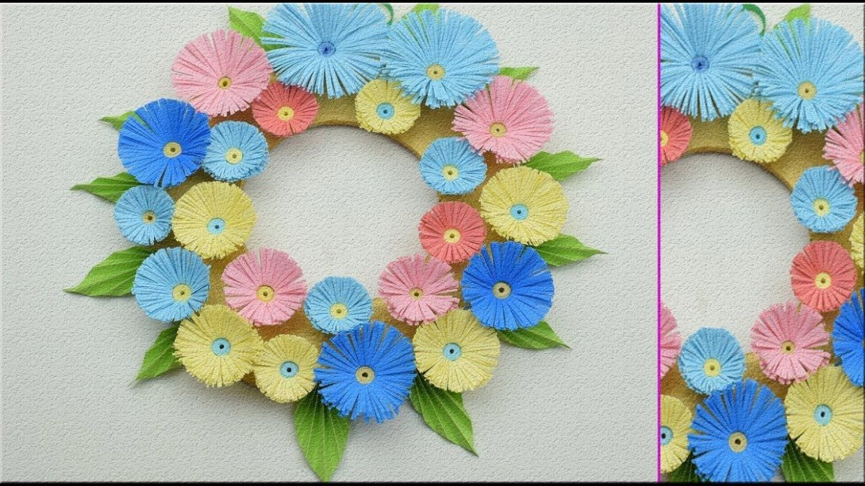 Paper Flower Wall Hanging - DIY Hanging Flower - Wall Decoration ..