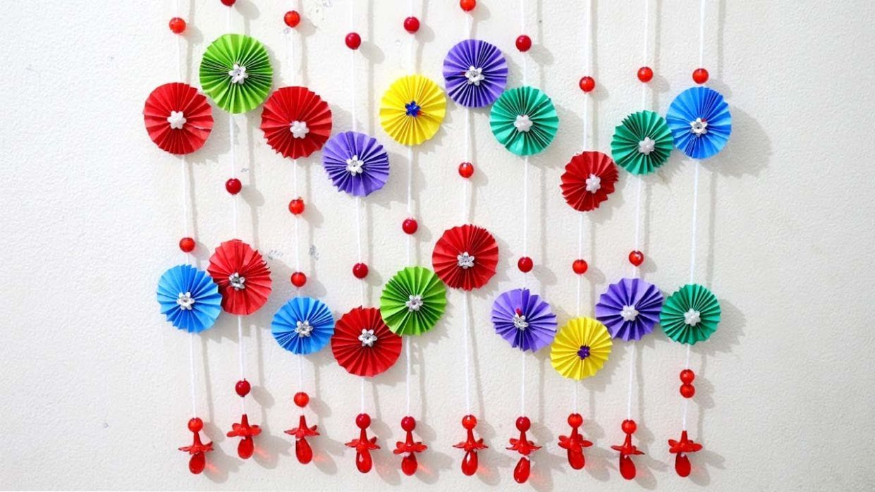 Paper wall hanging ideas - Paper craft ideas for room decoration - Wall  decoration with paper craft