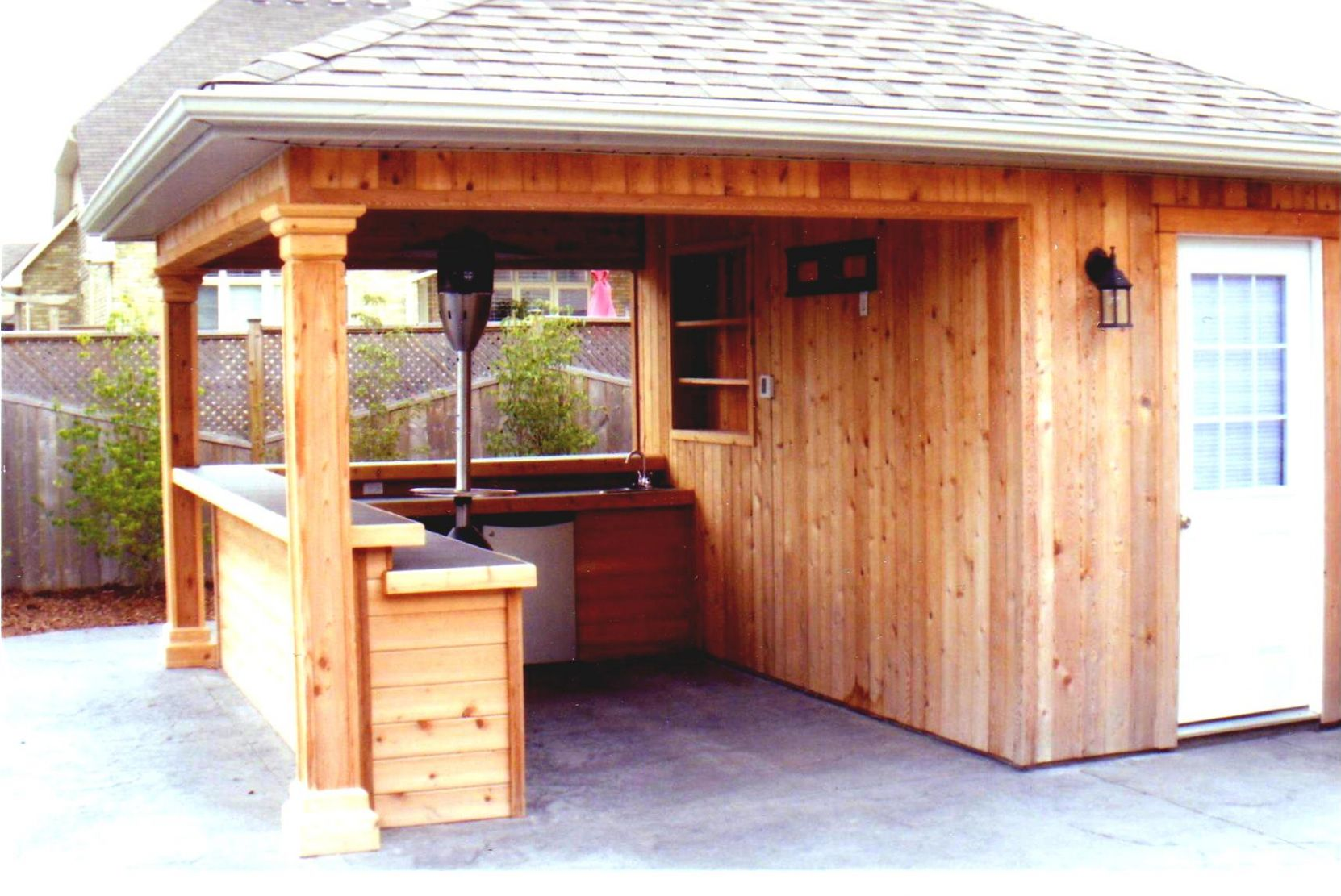 Patio Backyard Small Pool Living Home Tiki Bar Outdoor Hut ..