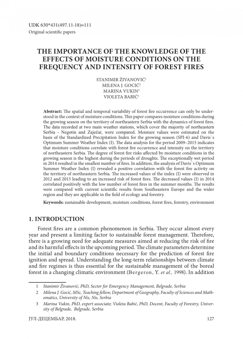 PDF) THE IMPORTANCE OF THE KNOWLEDGE OF THE EFFECTS OF MOISTURE ...