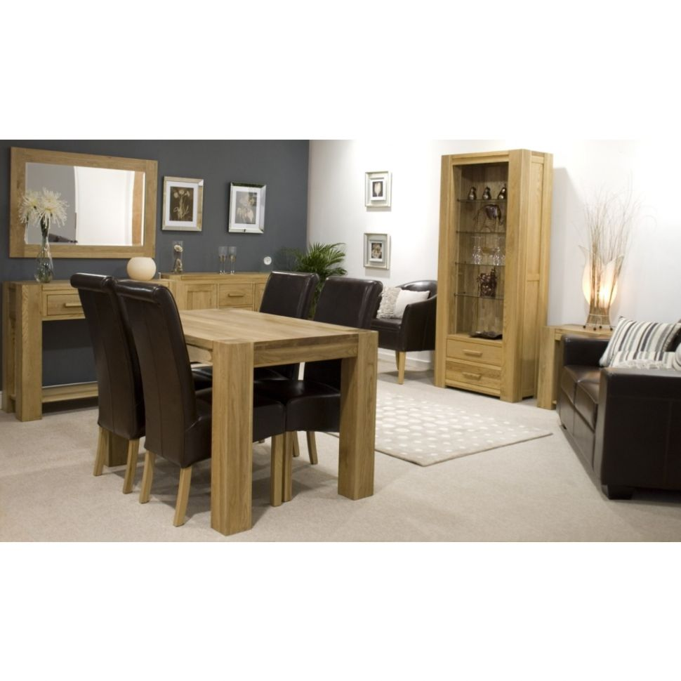 Pemberton Solid Oak Furniture Small Dining Table And Four Red ...