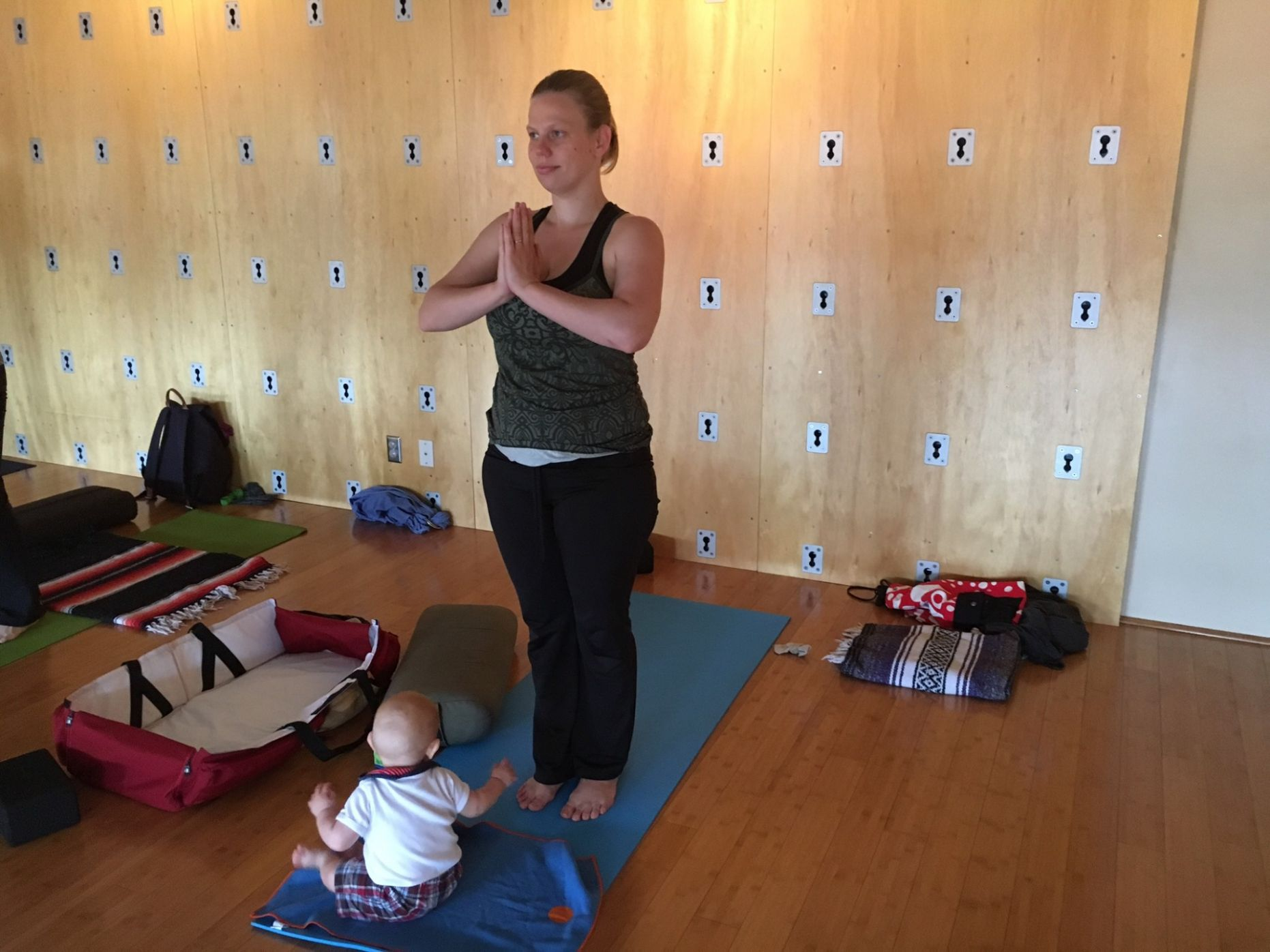 Photos: Baby joins Mommy for Class at The Space Above Yoga Studio - baby yoga room