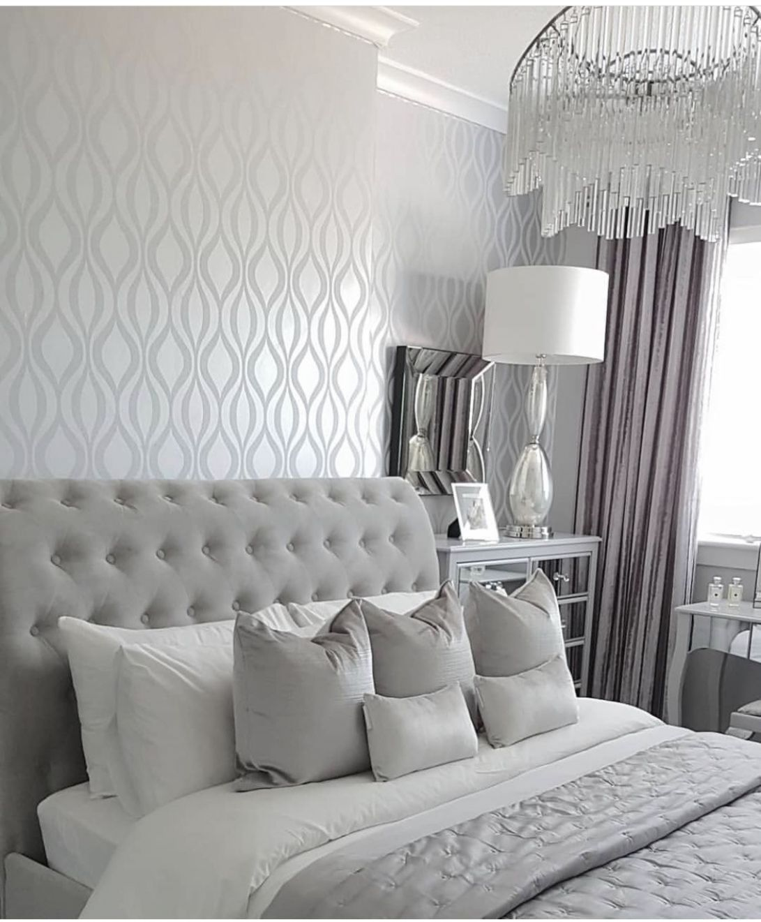 Pin by Elly on Home improvement | Silver bedroom, Silver bedroom ..