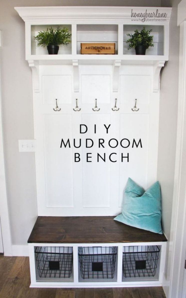 Pin on Garage Organization - laundry room bench ideas