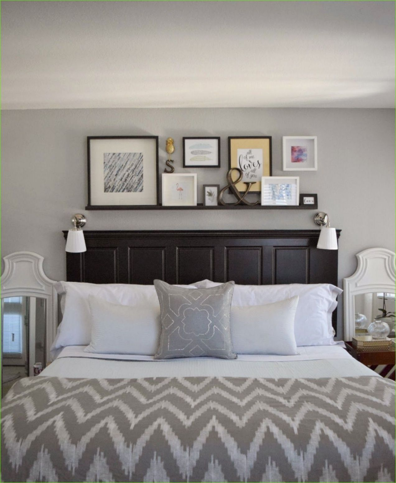 Pin on holiday decor - wall decor ideas behind bed