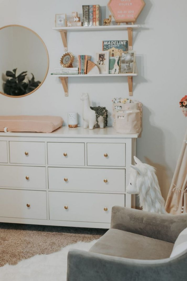 Pink and White Llama Inspired Nursery (With images) | Nursery ...