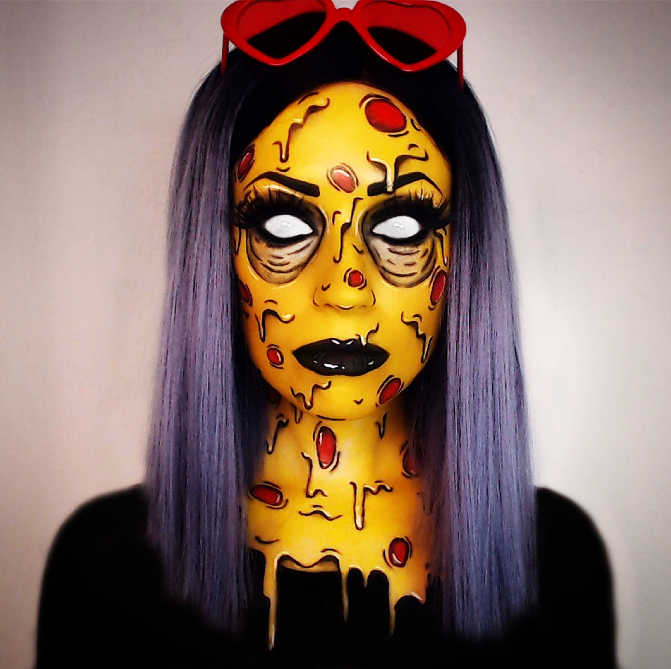 Pizza Grime art makeup Deladeso Halloween ideas (With images ...