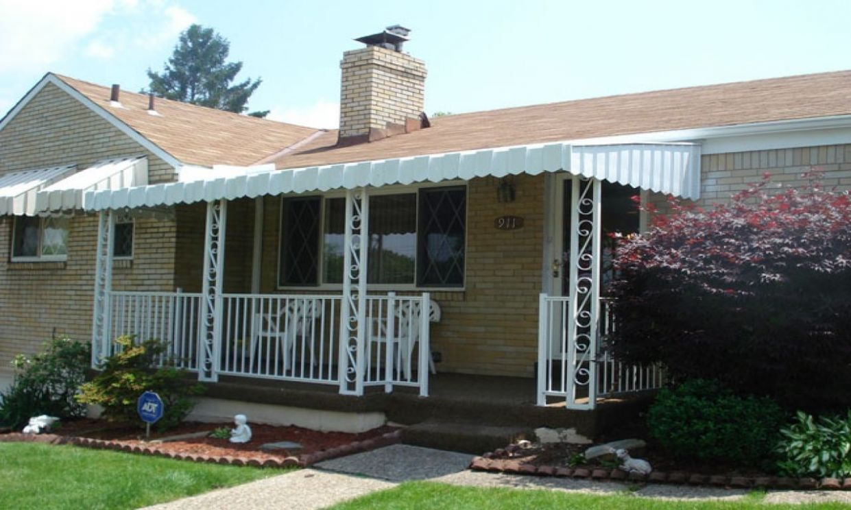 Pleasant Front Porch Awning Ideas (With images) | House awnings ..