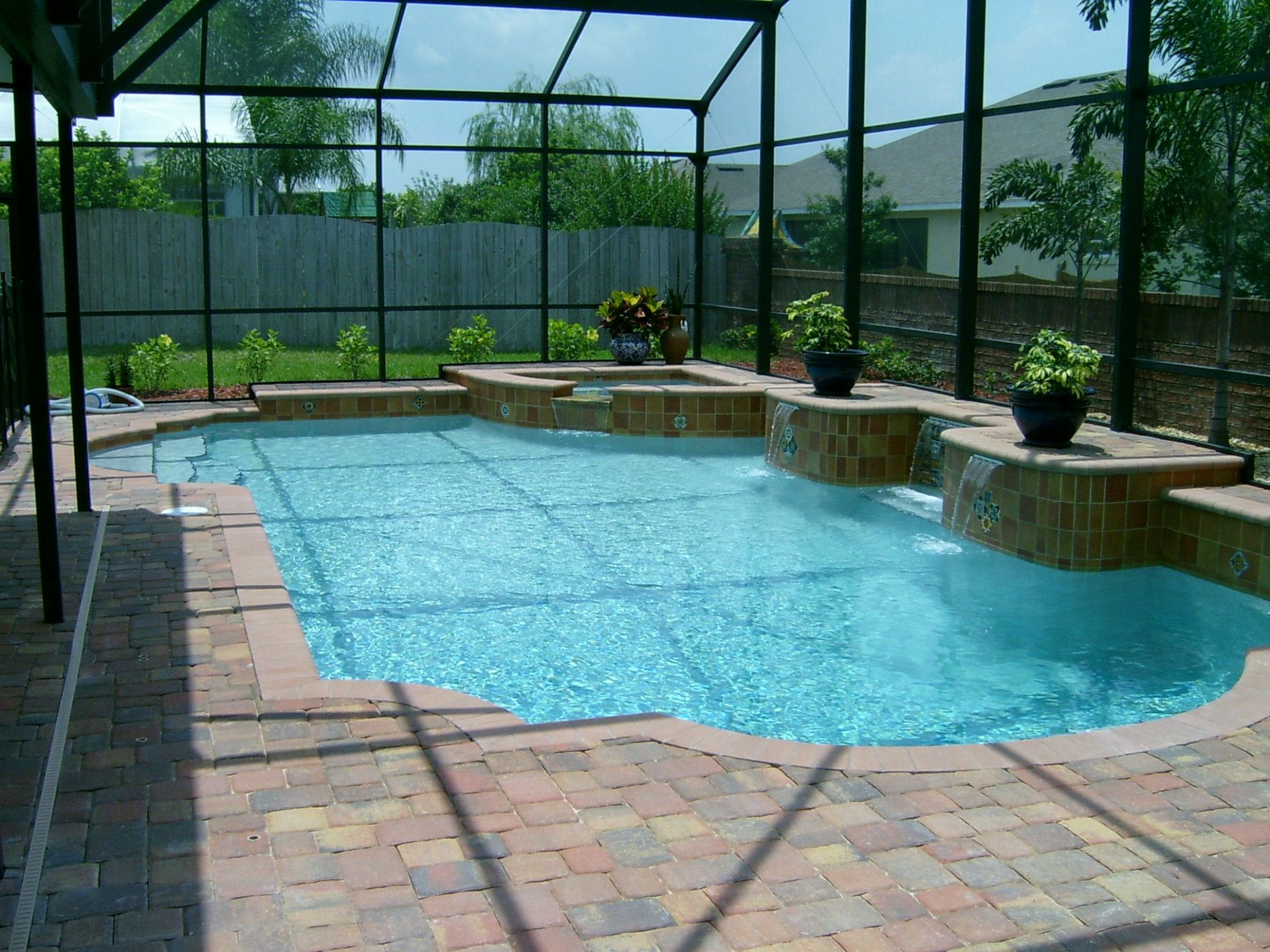 pool ideas | Backyard pool landscaping, Pool house plans, Backyard ...