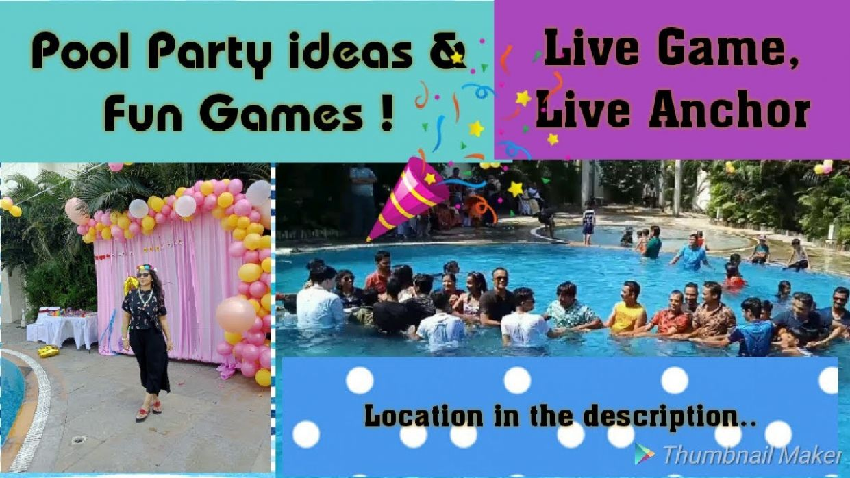 Pool party games & ideas/ Pool party games for team building/ Creative  Apurva Jain
