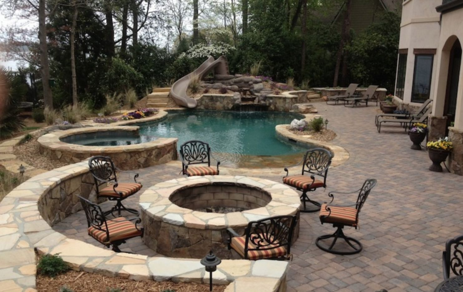 Pool Patios From Grill In Ground Patio Ideas On Home Designs Diy ...