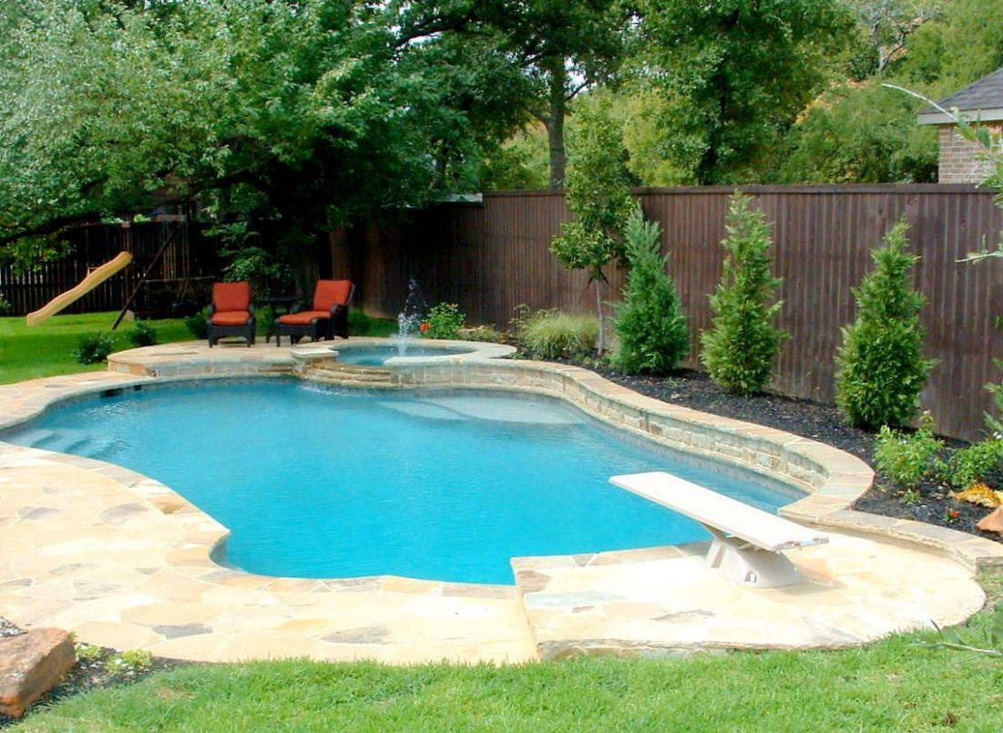 pool with diving board   Freeform Swimming Pool With Diving Area ..