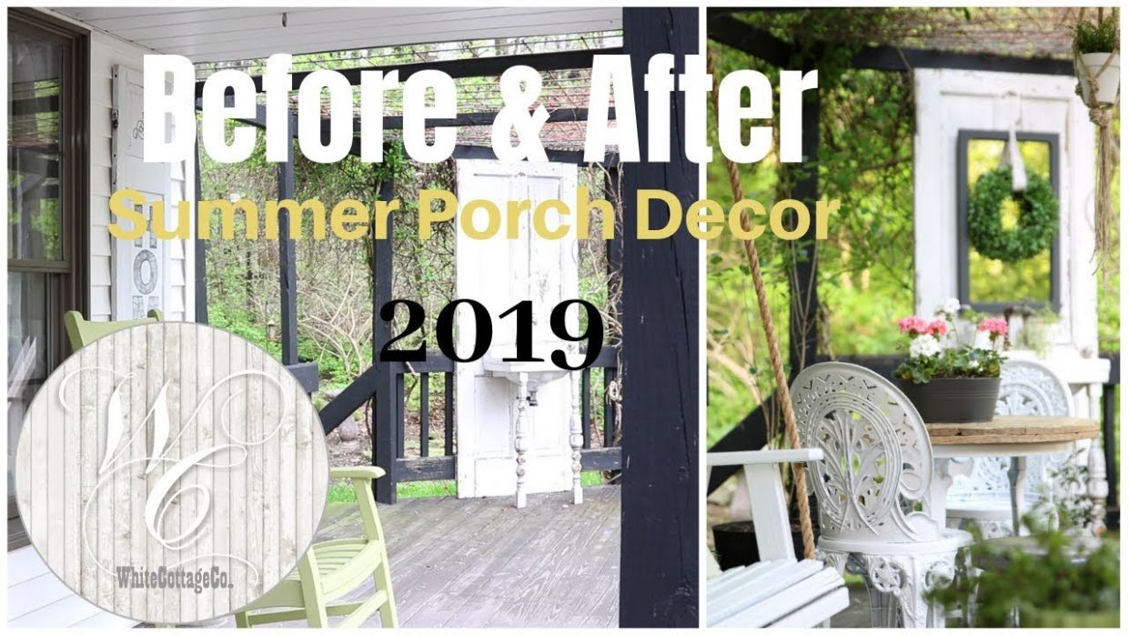 Porch Decor Ideas ~ Summer Porch ~ Farmhouse Porch Decor ~ Porch Swing  Installation - youtube front porch decor
