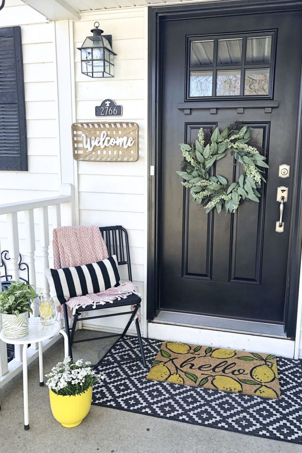 Porch Design Patio Chair Yellow Room in 10 | Front porch ..
