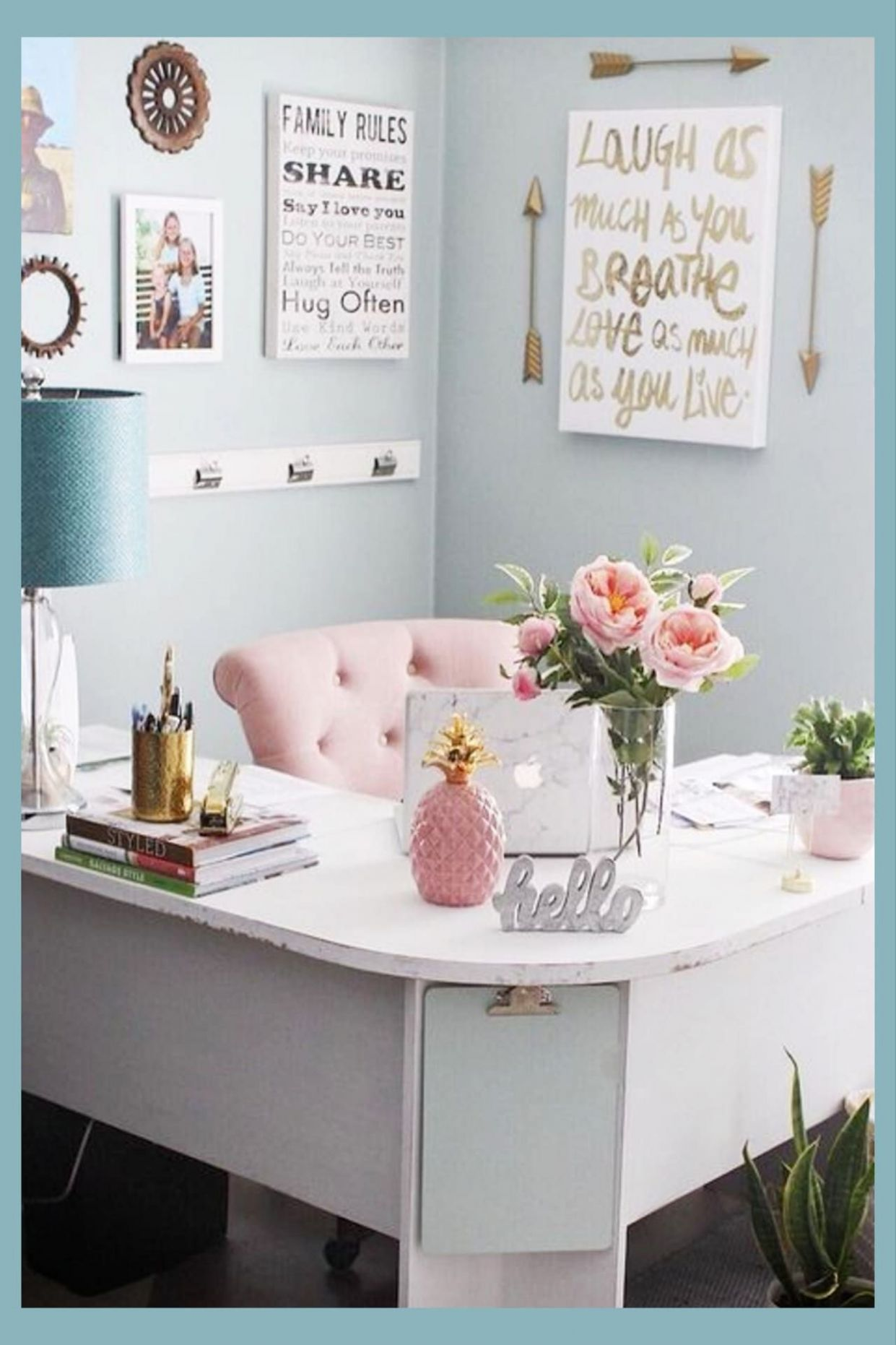 Pretty Home Office Ideas For Women - Beautiful Glam Chic Home ..