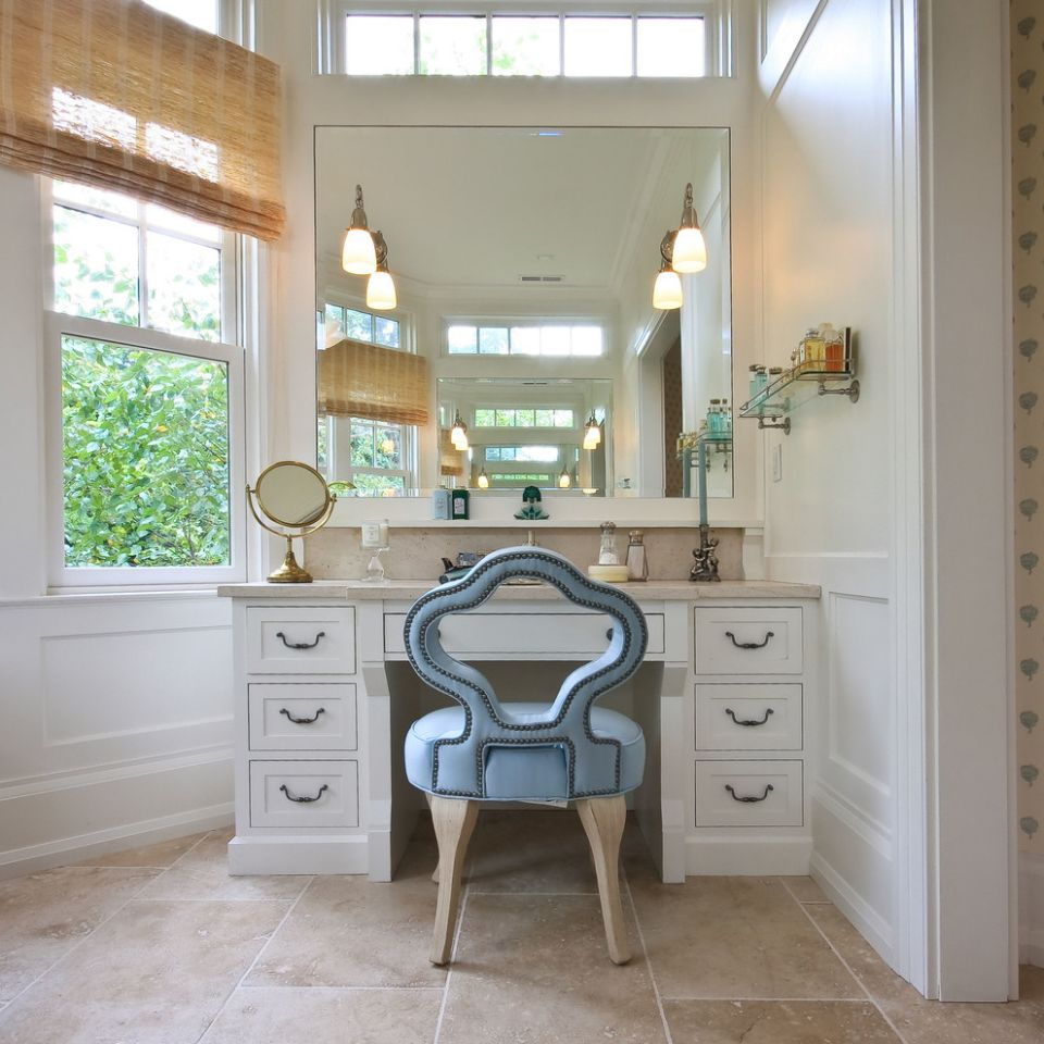 Pretty makeup vanities in Bathroom Traditional with Outside Mount ..