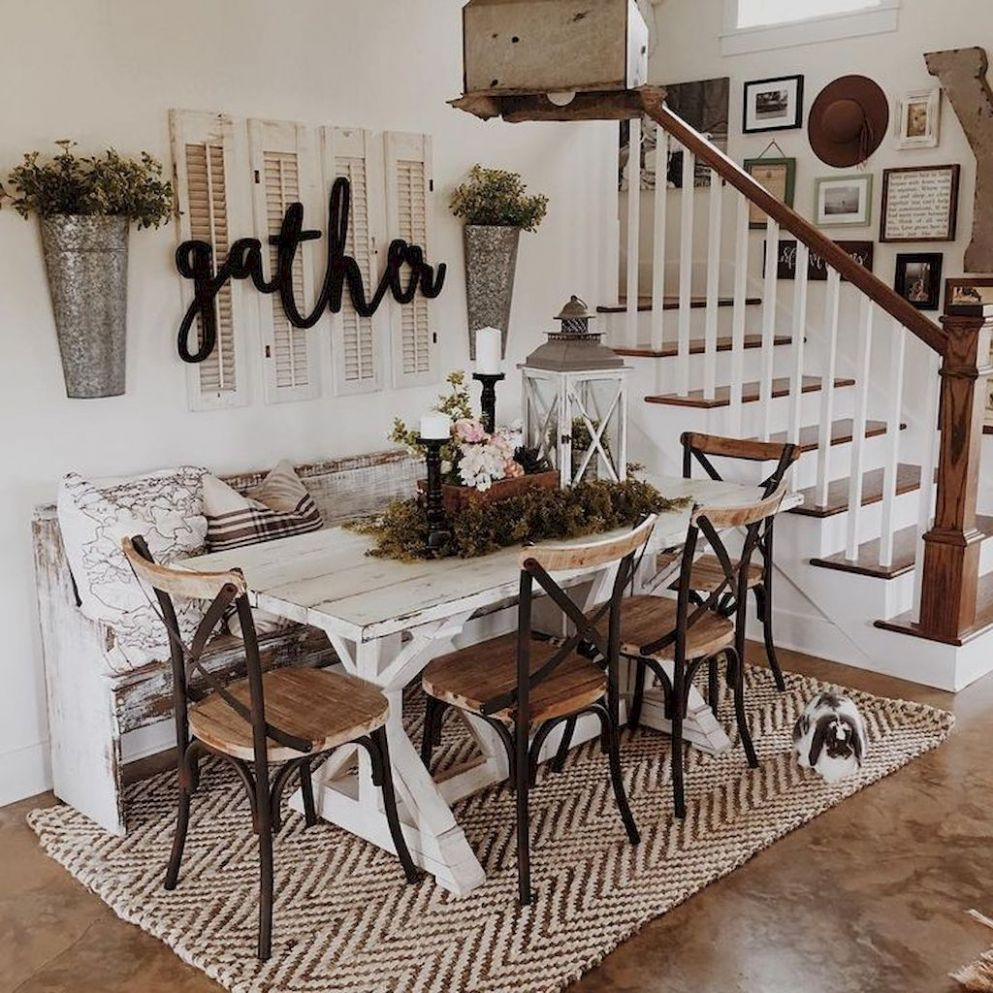 Published February Stunning Rustic Farmhouse Dining Room Decor ..