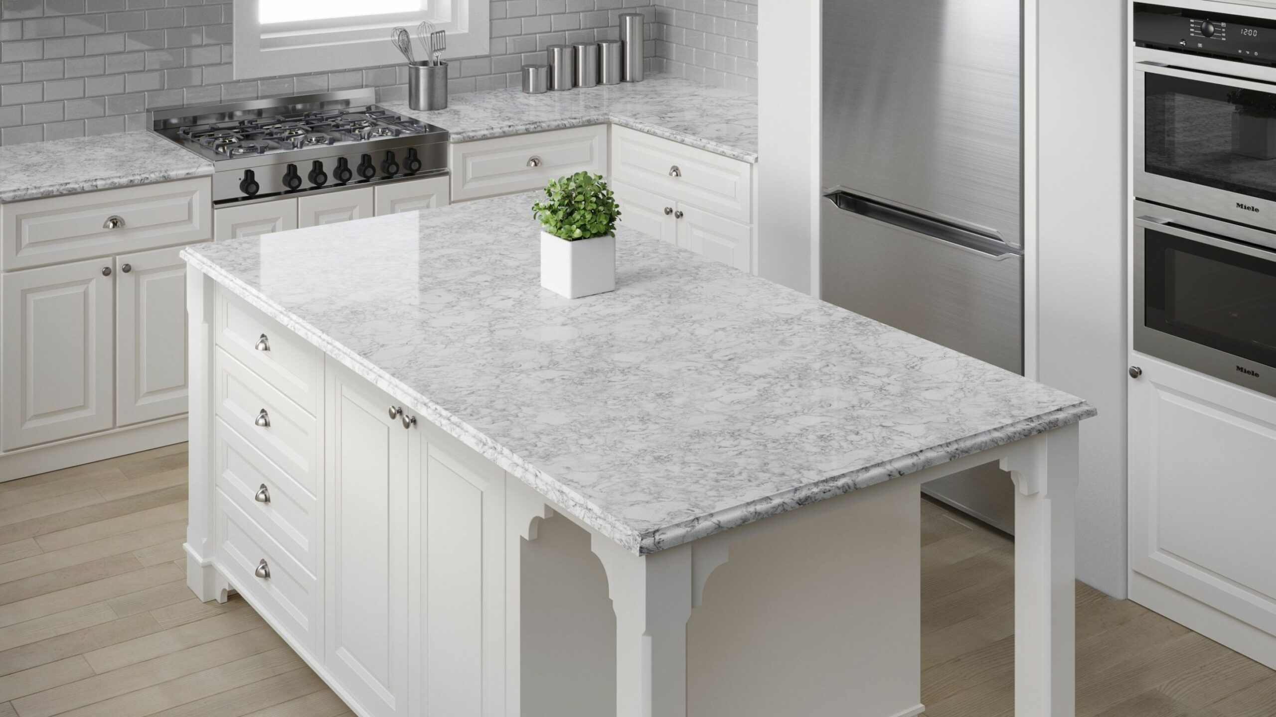 Quartz done in Oyster Cotton is a beautiful color from the allen + ..
