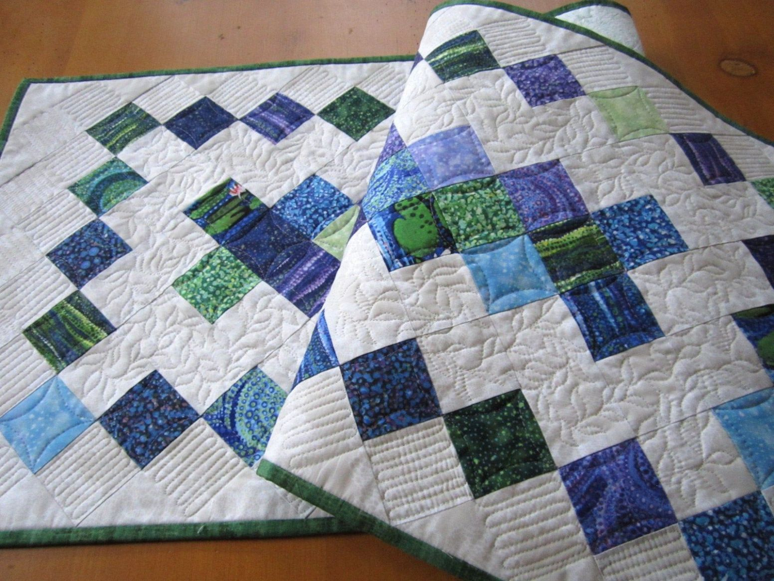 Quilted Table Runner Handmade Gifts Summer Home Decor | Table ..