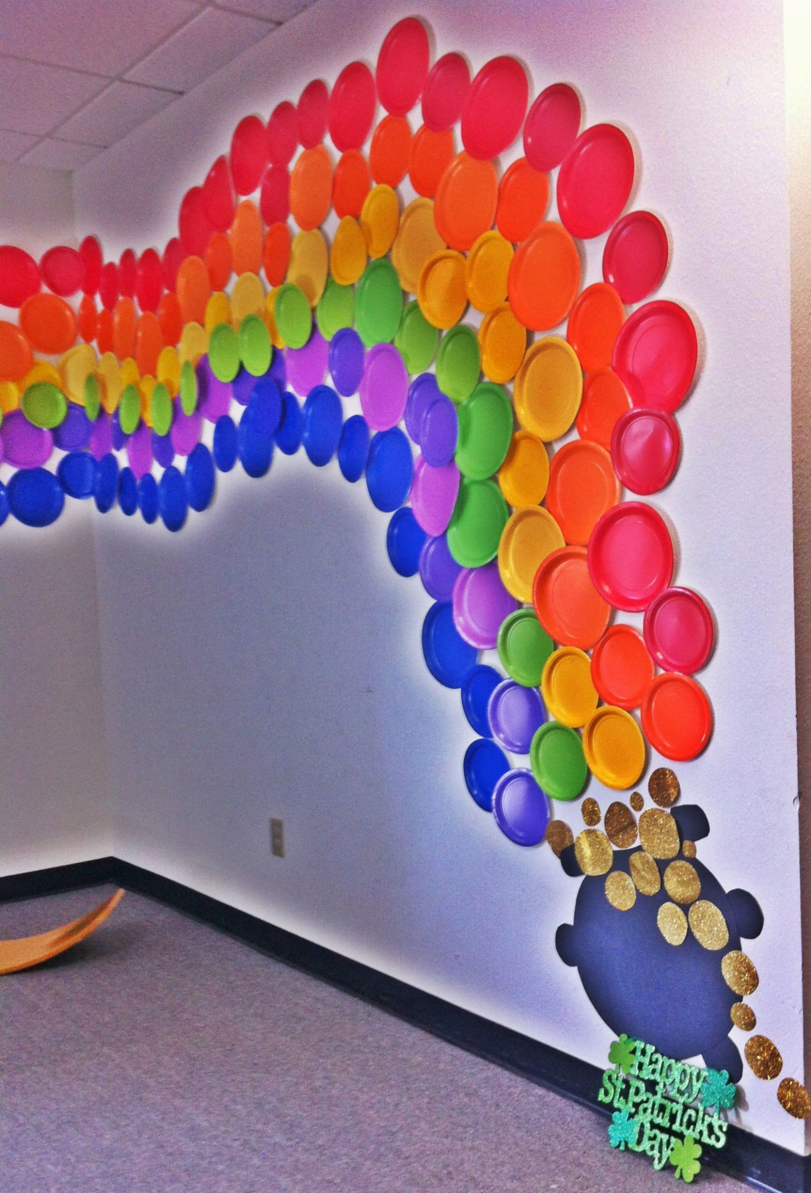Rainbow wall decor to liven any office (With images) | Rainbow ..