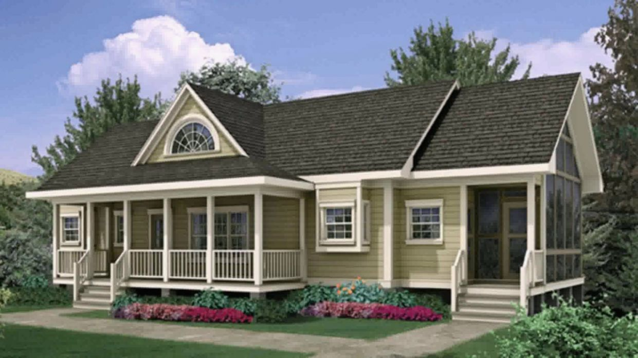 Ranch Plans with Front Porch Awesome Canton Crest Ranch Home Plan ..